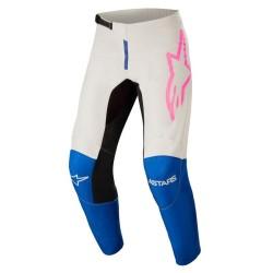 Pantalone FLUID TRIPPLE Blu Bianco Rosa - ALPINESTARS
