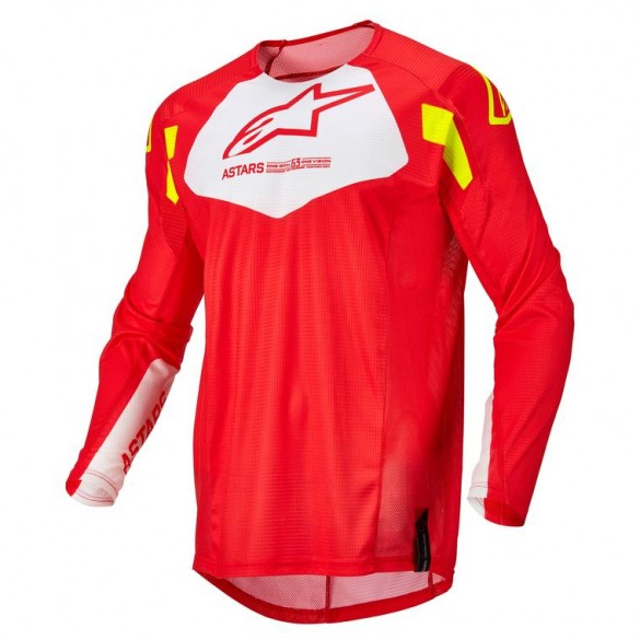 Maglia YOUTH RACER FACTORY Rosso Giallo - ALPINESTARS