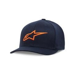 Cappellino AGELESS CURVE Blu Arancio - ALPINESTARS