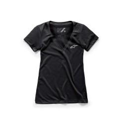 T-Shirt WOMENS AGELESS VNECK S Nero - ALPINESTARS
