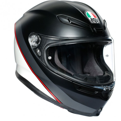 K6 MPLK MINIMAL Black/White/Red - AGV