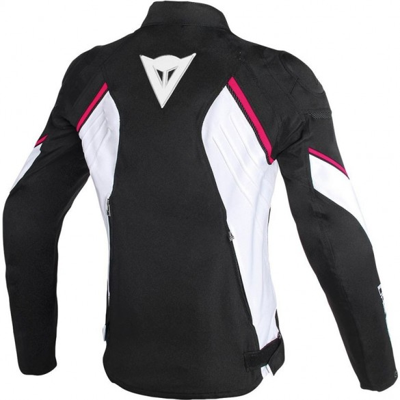 Giacca AVRO D2 LADY Nero Bianco Rosa - DAINESE