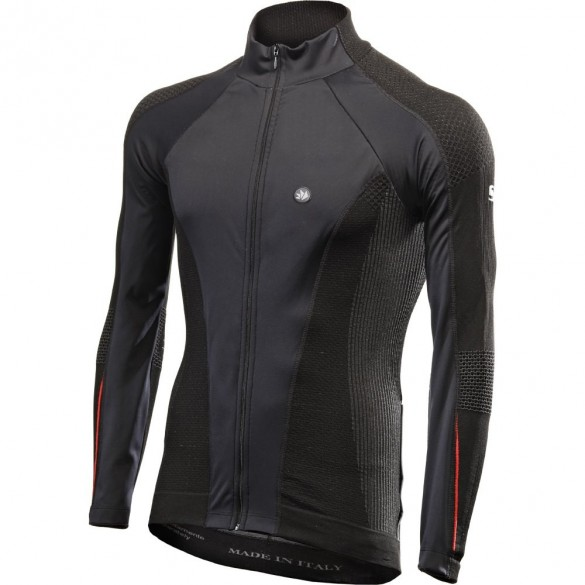 Maglia WINDSHELL Intimo Nero Rosso - SIXS