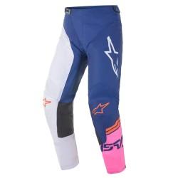 Pantalone RACER COMPASS Bianco Blu Rosa - ALPINESTARS
