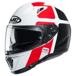 Casco i90 Hollen Rosso Bianco Nero - HJC