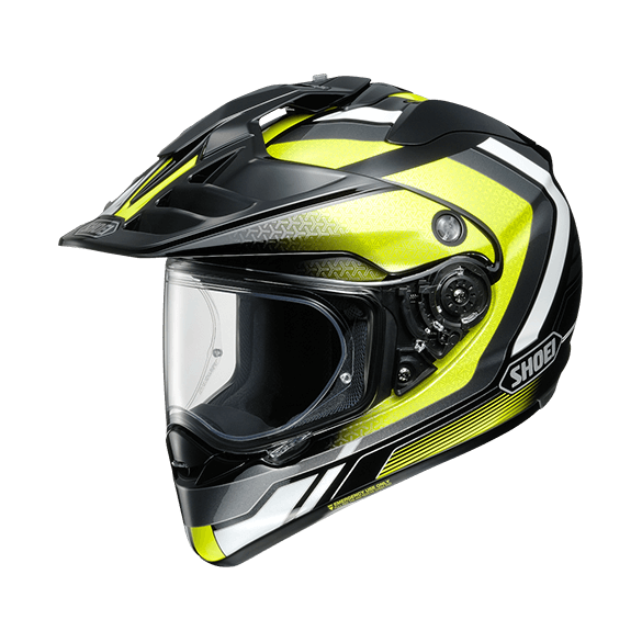 Casco HORNET ADV SOVEREIGN TC-3 Nero Giallo Bianco - SHOEI