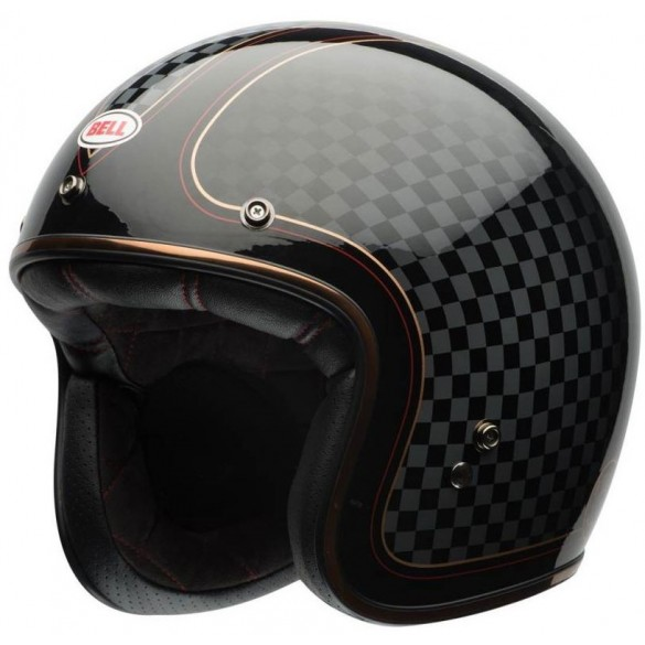 Casco CUSTOM 500 DLX SE RSD CHECK IT Nero Oro - BELL