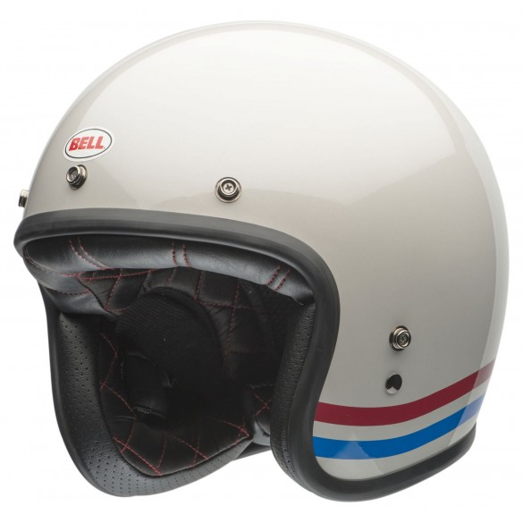 Casco CUSTOM 500 DLX STRIPES Bianco - BELL
