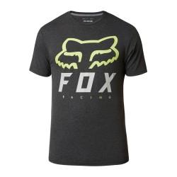 T-Shirt HERITAGE Nero Verde - FOX