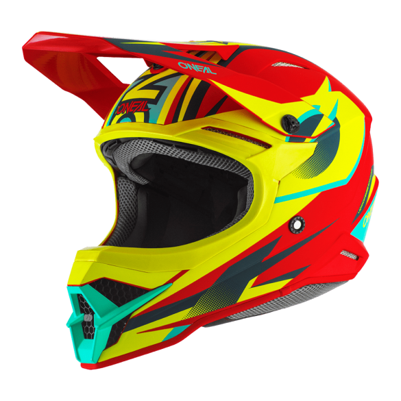 Casco 3SRS RIFF 2.0 Rosso Giallo Fluo - O'NEAL