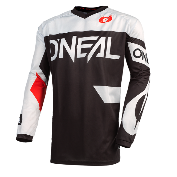 Maglia ELEMENT RACEWEAR Nero Bianco Rosso - O'NEAL