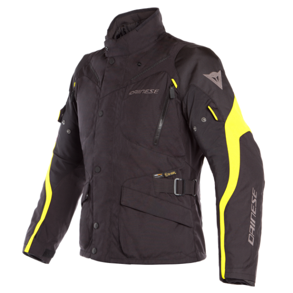 Giacca TEMPEST 2 D-DRY Nero Giallo - DAINESE