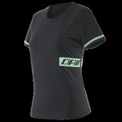 T-Shirt PADDOCK LADY Nero Verde - DAINESE