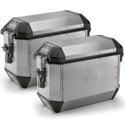 Coppia Valigie Laterali TREKKER ALASKA Alluminio - GIVI
