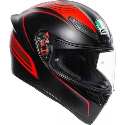 K1 WARMUP Matt Black/Red - AGV
