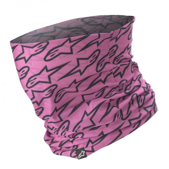 Scaldacollo ASTARS NECK TUBE Intimo Rosa Nero - ALPINESTARS