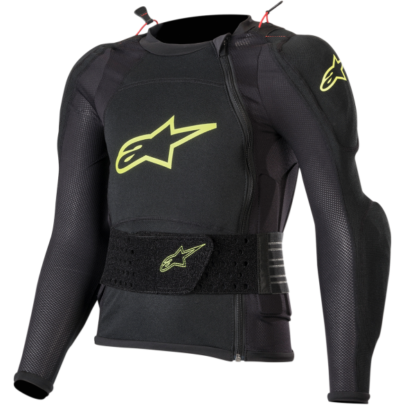 Pettorina BIONIC PLUS YOUTH PROTECTION Nero Giallo Fluo - ALPINESTARS