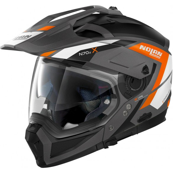 Casco N70-2 X Grandes Alpes Grigio Bianco Arancio - Nolan