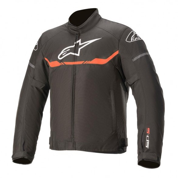 Giacca YOUTH T-SP S WATERPROOF Nero Rosso Fluo - ALPINESTARS