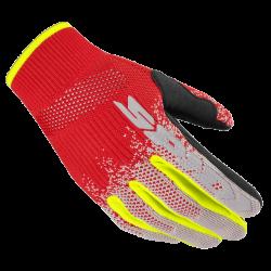 Guanto Corto X-KNIT Rosso Giallo Fluo - SPIDI