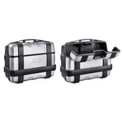 Coppia Valigie Latreali TREKKER 33 lt. Alluminio - GIVI